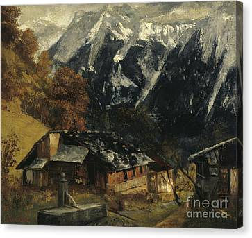 An Alpine Scene Canvas Print by Gustave Courbet