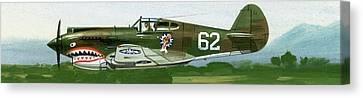 An American Curtiss P40 B Fighter Canvas Print