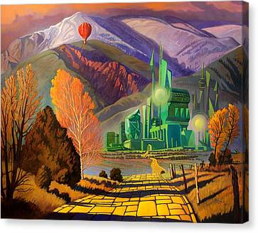 Canvas Print featuring the painting Oz, An American Fairy Tale by Art West