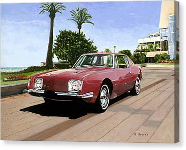 An American In Cannes Canvas Print by Richard Herron