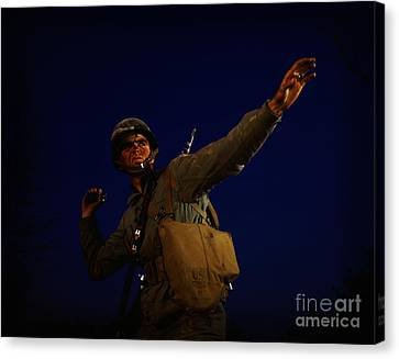 Infantryman Canvas Print - An American Pineapple by Celestial Images