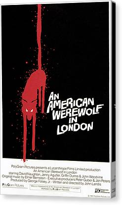 An American Werewolf In London, Poster Canvas Print by Everett
