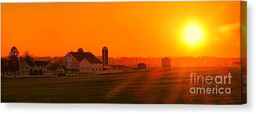 Amish Farms Canvas Print - An Amish Sunset by Olivier Le Queinec