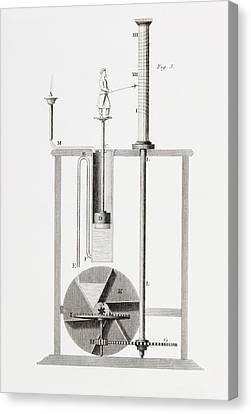 An Ancient Clepsydra Or Water Clock Canvas Print