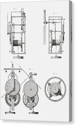 An Ancient Clock Built By Henry De Wick Canvas Print