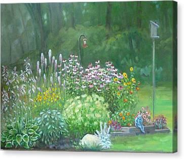 An Angel In My Garden Canvas Print