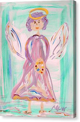 An Angel Of Vision Canvas Print by Mary Carol Williams