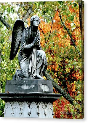 Rememberance Canvas Print - An Angels' Prayer by Lesa Fine