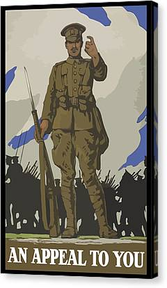 Ww1 Canvas Print - An Appeal To You by War Is Hell Store