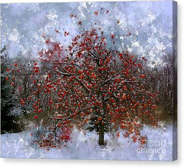 Snowy Day Canvas Print - An Apple Of A Day by Julie Lueders