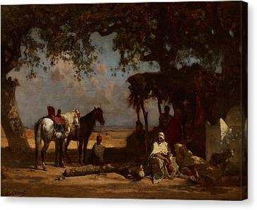 An Arab Encampment Canvas Print by Gustave Guillaumet