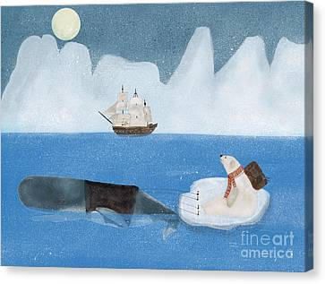 Canvas Print featuring the painting An Arctic Adventure by Bri B