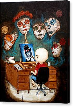 Canvas Print featuring the painting An Artist Inspired by Al  Molina