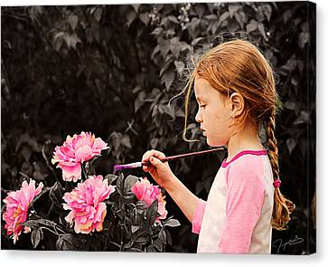 An Artistic Touch Canvas Print by Jeremy Martinson