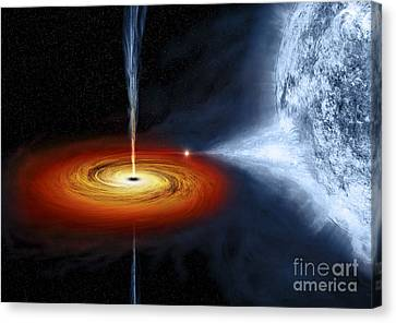 Jet Star Canvas Print - An Artists Illustration Of The Cygnus by Stocktrek Images