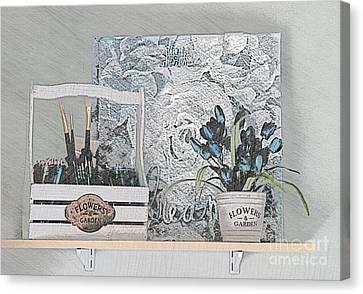 An Artist's Shelf Canvas Print