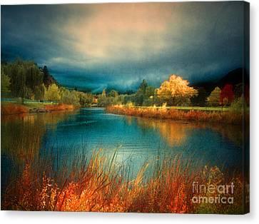 Penticton Canvas Print - An Autumn Storm by Tara Turner