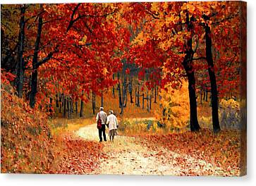 An Autumn Walk Canvas Print