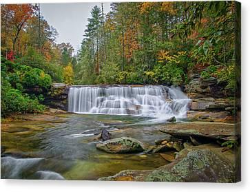 An Autumn Waterfall In North Carolina Canvas Print