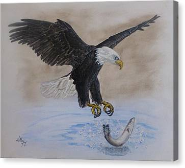 An Eagles Easy Catch Canvas Print