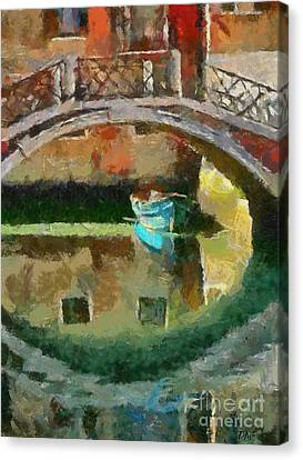 An Early Morning In Venice Canvas Print by Dragica  Micki Fortuna