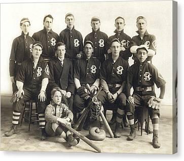 An Early Sf Baseball Team Canvas Print by American School