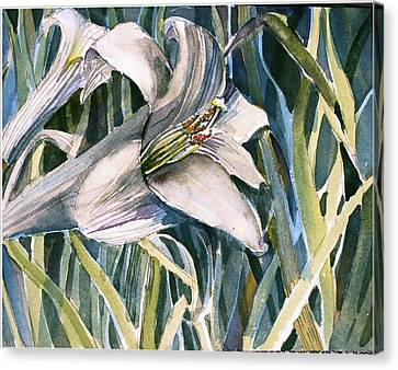 Canvas Print featuring the painting An Easter Lily by Mindy Newman