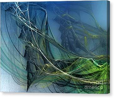 Canvas Print featuring the digital art An Echo Of Speed by Karin Kuhlmann