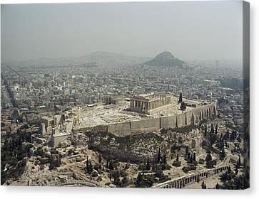 An Elevated View Of The Parthenon Canvas Print by James P. Blair