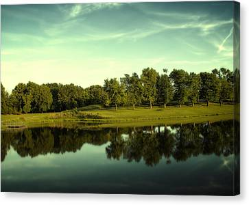 An Evening At Broemmelsiek Park Canvas Print by Bill Tiepelman