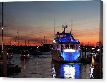 Canvas Print featuring the photograph An Evening In Newport Rhode Island II by Suzanne Gaff