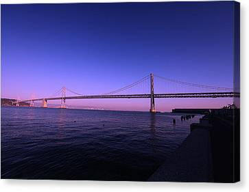 Canvas Print featuring the photograph An Evening In San Francisco  by Linda Edgecomb