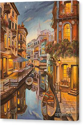 An Evening In Venice Canvas Print
