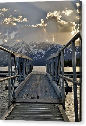 An Evening On Jackson Lake Canvas Print