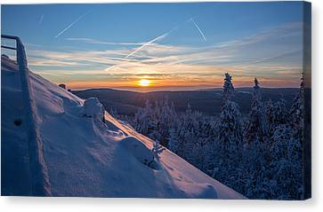 an evening on the Achtermann, Harz Canvas Print