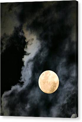 An Evil Face In The Clouds Canvas Print by Kristin Elmquist