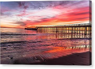 Seacliff Sunset Canvas Print by Lora Lee Chapman