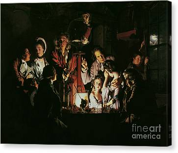 Candle Lit Canvas Print - An Experiment On A Bird In The Air Pump by Joseph Wright of Derby