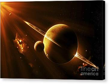 An Extraterrestrial Spacecraft Canvas Print
