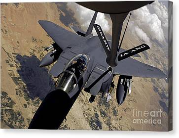 An F-15 Strike Eagle Prepares Canvas Print by Stocktrek Images