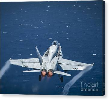 F-18 Canvas Print - An F A-18c Super Hornet by Celestial Images