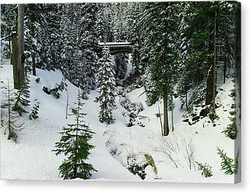 An Iced Over Bridge Canvas Print by Jeff Swan