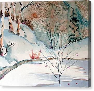 An Icy Winter Canvas Print by Mindy Newman