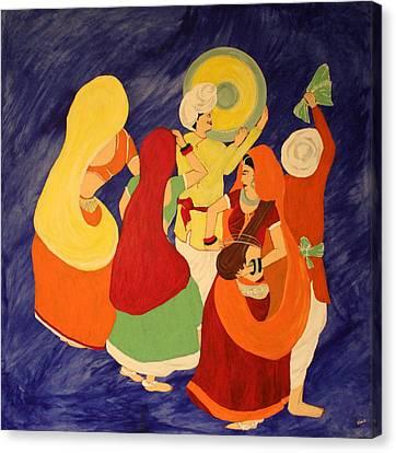 An Indian Celebration Canvas Print by Vinita C