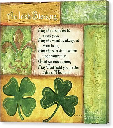 Ornate Canvas Print - An Irish Blessing by Debbie DeWitt
