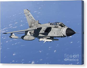 An Italian Air Force Tornado Ids Armed Canvas Print by Gert Kromhout