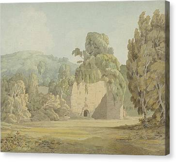An Ivy Covered Ruin Canvas Print by Francis Towne