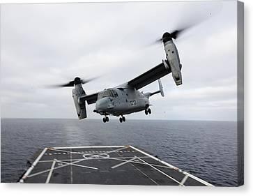 An Mv-22 Osprey Us Navy Canvas Print by Celestial Images
