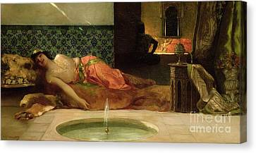 An Odalisque In A Harem Canvas Print by Benjamin Constant