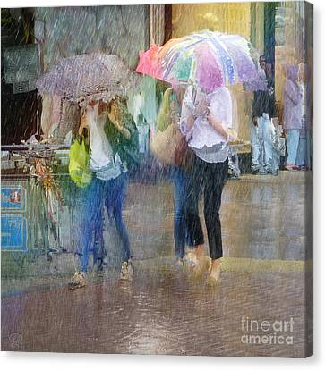 Canvas Print featuring the photograph An Odd Sharp Shower by LemonArt Photography